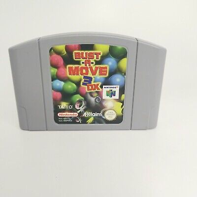 Bust a Move 3 DX N64 Nintendo 64 Official Game Cart Only UK PAL Tested & Working
