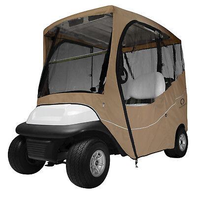Classic Accessories Fairway Golf Cart Travel Enclosure  Khaki  Short Roof