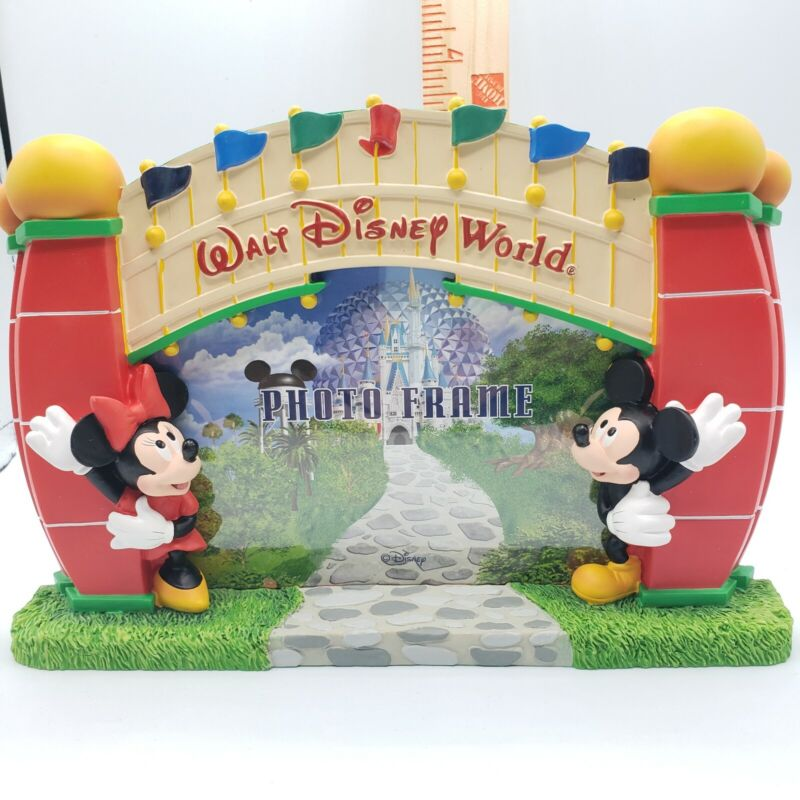 Walt Disney World Entrance Mickey & Minnie Mouse Picture Frame New