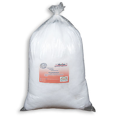 Faserbällchen Faserkügelchen Kissenfüllung Füllmaterial PES silikonisiert 0,5 Kg