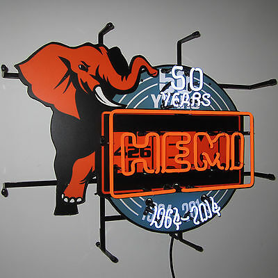 Hemi Mopar 50Th Anniversary Neon Sign Elephant 426 Engine Nhra Chrysler Fiat