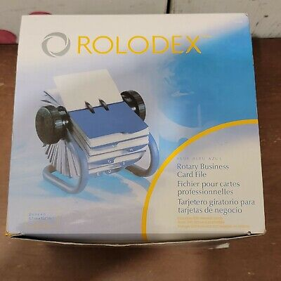 Rolodex Open Rotary Business Card File With 200 Sleeved Cards