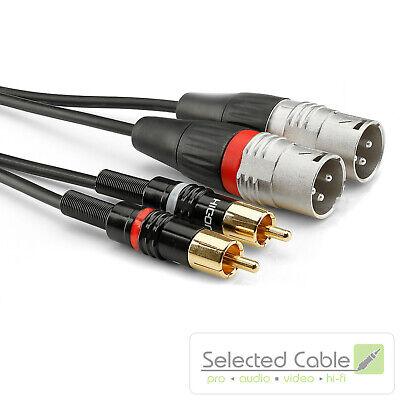 SOMMER CABLE Basic+ 3m XLR auf Cinch Adapter- Instrumentenkabel   HBP-M2C2-0300