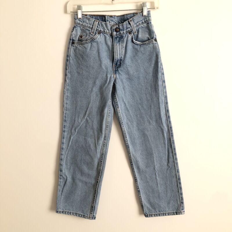 Kids Vintage Levi's 550 relaxed fit Orange Tab jeans size 11 Light Wash