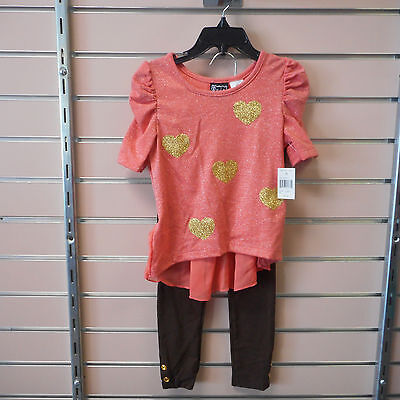 Toddler Girls Pogo Club Of Ny Sizes 3T 4T 5 6 6X 10 12   14 16 Top W T Leggings