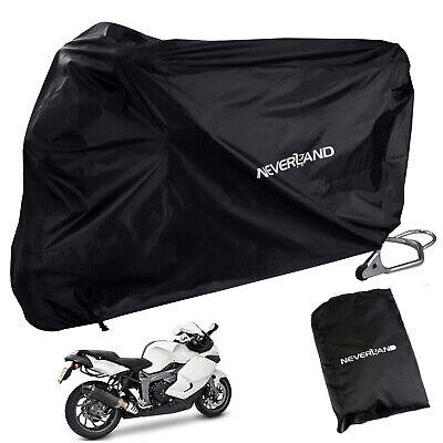 Large Waterproof Motorcycle Cover Outdoor Black For Kawasaki Ninja ZX 6R 10R 14R