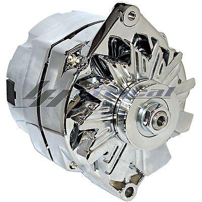 NEW ALTERNATOR CHROME FOR CHEVY OLDSMOBILE PONTIAC BUICK GM HIGH 110AMP 12 clock