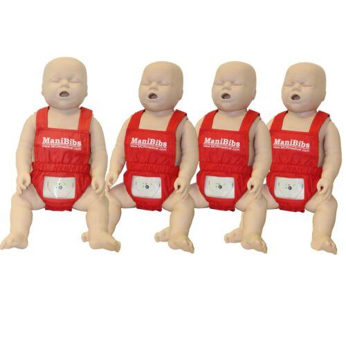 CPR Manikin Overall Bibs, Infant Manikin, 4-pack