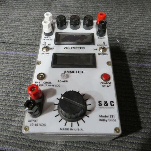 S&C Voltmeter/Ammeter Model 331 Relay Slide   ----  *D26*