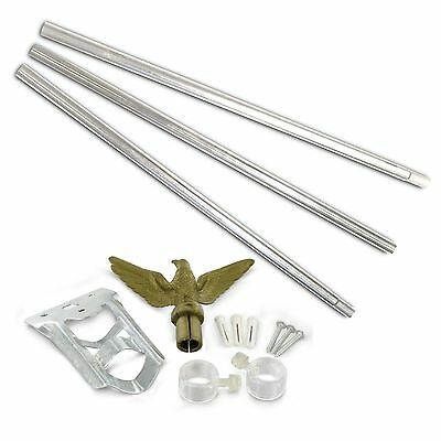 12 lot American Company 6' Residential Steel Flagpole Kit for USA flag FREE SHIP