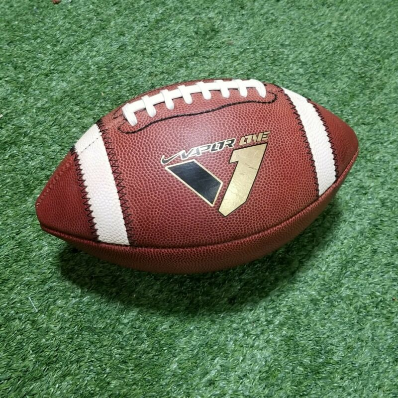 Nike Vapor One Official Collegiate & High School Size Leather Game Football NFHS