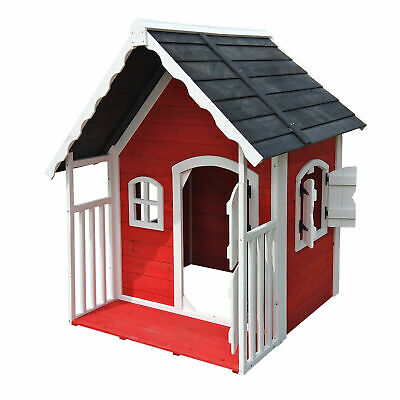 Casa casetta giochi per bambini in legno con veranda Giardino Esterno