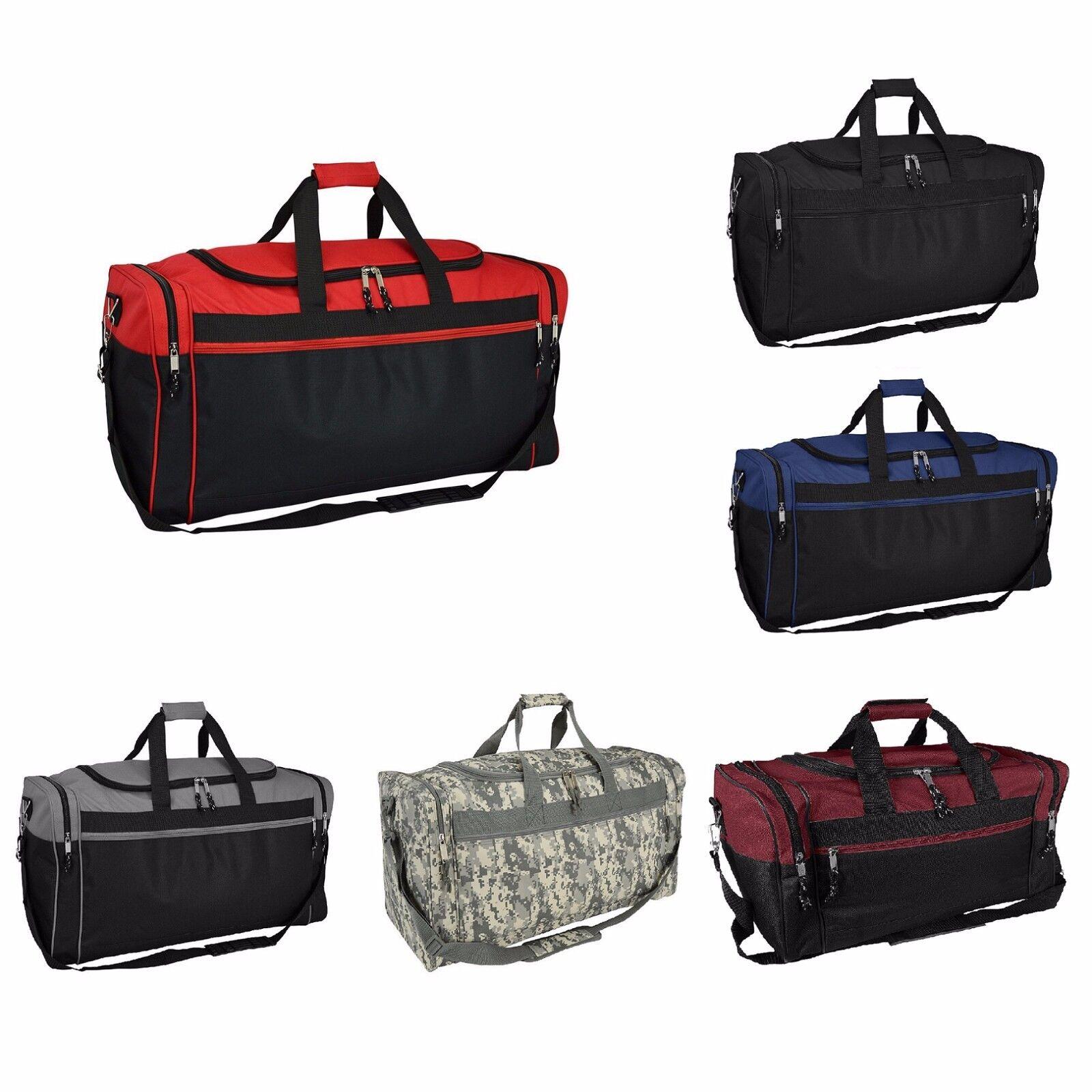 DALIX 25″ Extra Large Travel Vacation Overnight Duffle Bag in Black Luggage