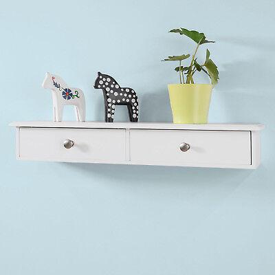 SoBuy® Wandschrank,Hängeschrank,Wandgarderobe mit 2 Schubladen,Wandregal,FRG43-W (Garderobe Mit Regal)