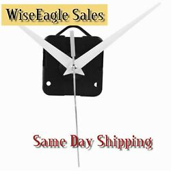 Silent Wall Clock Quartz Movement Mechanism (White Hands 90) DIY 5168s/6168s/668