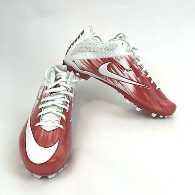 New Mens Nike Vapor Speed 2 LAX Lacrosse Cleats Sz 13 White/Red