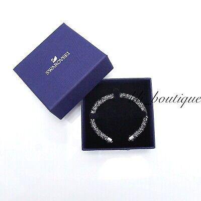 NIB Swarovski 5255912 Crystaldust Bangle Cuff Bracelet Gray Size S 5.1/1.5cm $69