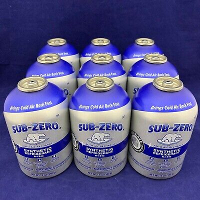 Set of 9: SUB-ZERO Synthetic R-134a Refrigerant Boosters 12oz Free Shipping for sale  Shipping to Canada