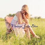 vintage julie blue