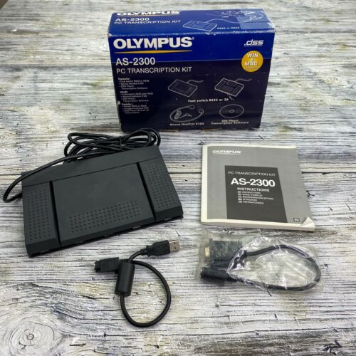 Olympus AS-2300 PC Transcription Kit >No Disc or Headset (See Below)