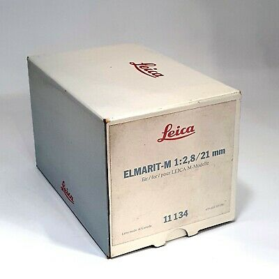 Leica Elmarit-M 1:2.8 21mm Empty box (No Lens , Only Box)