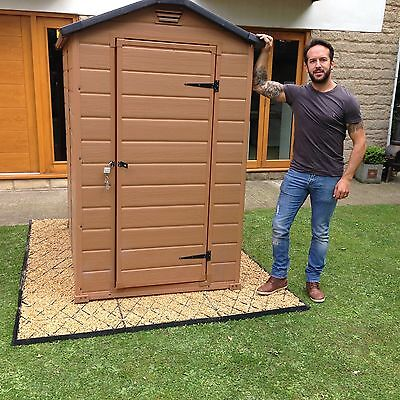 GARDEN SHED ECO BASE 6x5ft + WEED FABRIC 5x6 ft GREENHOUSE BASE PATHS & DRIVESem