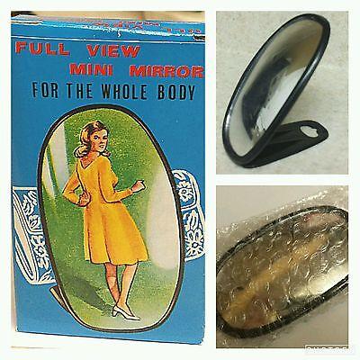 1 Pc Vintage 1960's-1970s FULL VIEW MINI MIRROR w Stand & Box FULL BODY, NEW