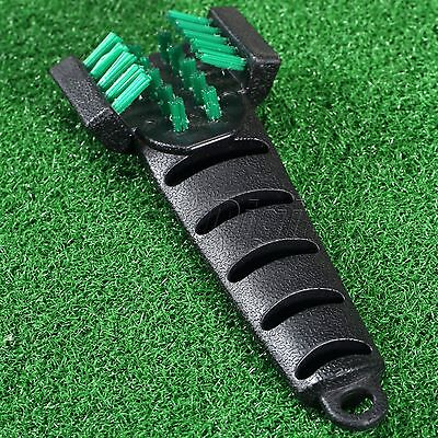 Golf Club Double Side Cleaning Cleaner Brush Groove Handle Grip Golf Equipment