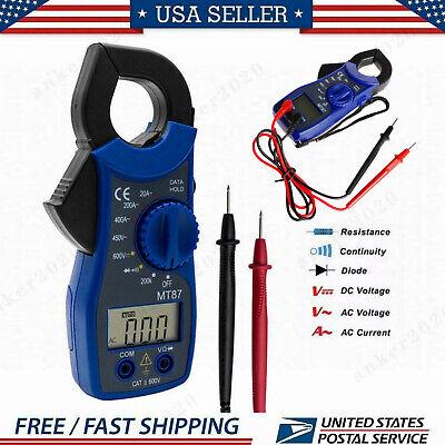 Mt87 Digital Clamp Meter Acdc Current Voltage Multimeter Temp Volt Amp Tester