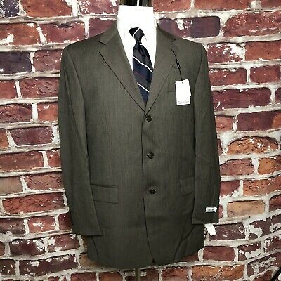 Calvin Klein Men's Jacket 100% Wool Suit Separate Dark Taupe Size covid 19 (Taupe Suit Separates coronavirus)