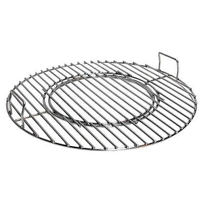 Grillrost mit Wokeinsatz für 57 cm Kugelgrill Edelstahl Rost Einsatz BBQ Wok