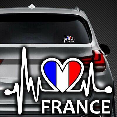 A186# Aufkleber FRANCE Frankreich Paris Herzschlag Wappen Flag Fahne Sticker