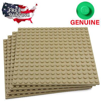 x4 Lego Tan Baseplates Base Plates Brick Building 16 x 16 Dots Tan 4 Pack
