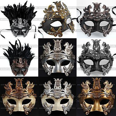 Perseus Warrior Mardi Gras Party Costume Venetian Masquerade Men's Ball Mask - Mens Masquerade Ball Costumes
