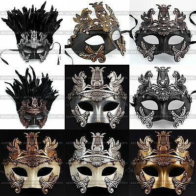 Perseus Warrior Mardi Gras Party Costume Venetian Masquerade Men's Ball Mask - Man Masquerade Masks