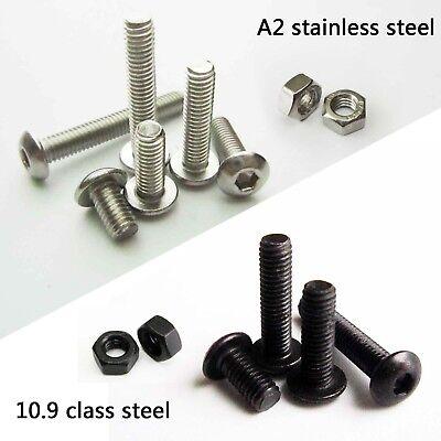 3mm Black Alloy Steel Flat Pan Head Allen Bolts Socket Screws 720pcs M3