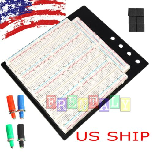 Solderless Breadboard Protoboard T/P Tie-point 3220 Hole PCB Prototype Board US