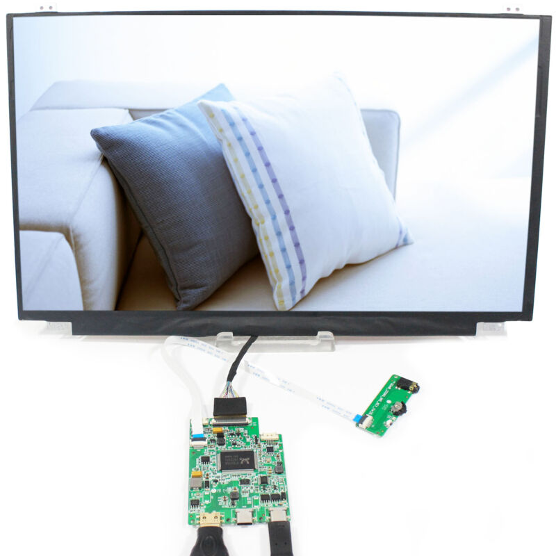"Type C HD MI Controller Board 15.6"" NV156FHM 1920x1080 Capacitive Touch LCD"