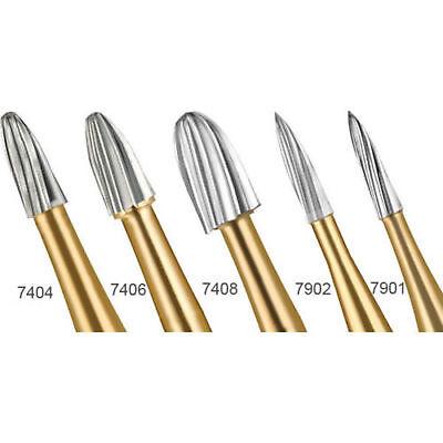 10pcs Dental Tungsten Carbide Trimming Finishing Burs Drill 740474067408 Fg