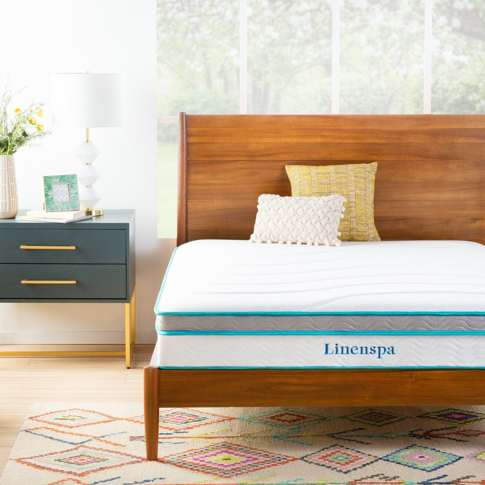 Linenspa 10 inch Hybrid Memory Foam + Spring Mattress Twin -