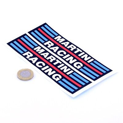 Martini Racing Stickers Classic Car Rally F1 Vinyl Decals 150mm x2 Lancia Alfa