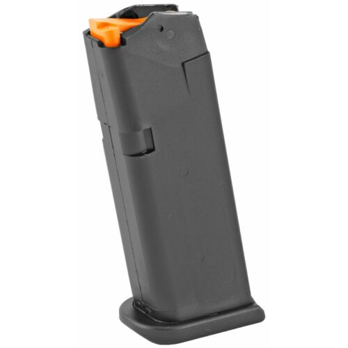 Glock, OEM Magazine, 9MM, 10Rd, Fits GLOCK 19, Gen 5 Orange Follower, Black!!!