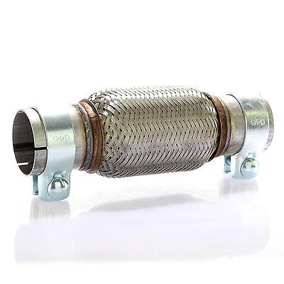 Edelstahl Flexrohr Auspuff 60 x 150 mm + 2 Schellen Flexstück Set ohne Schweißen