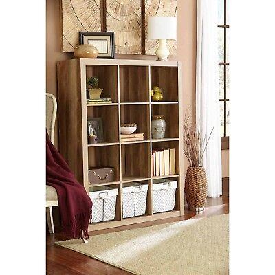 Bookcase 12 Cube Storage Spaces Bookshelf Shelving Unit Open Cubes Organizer A++