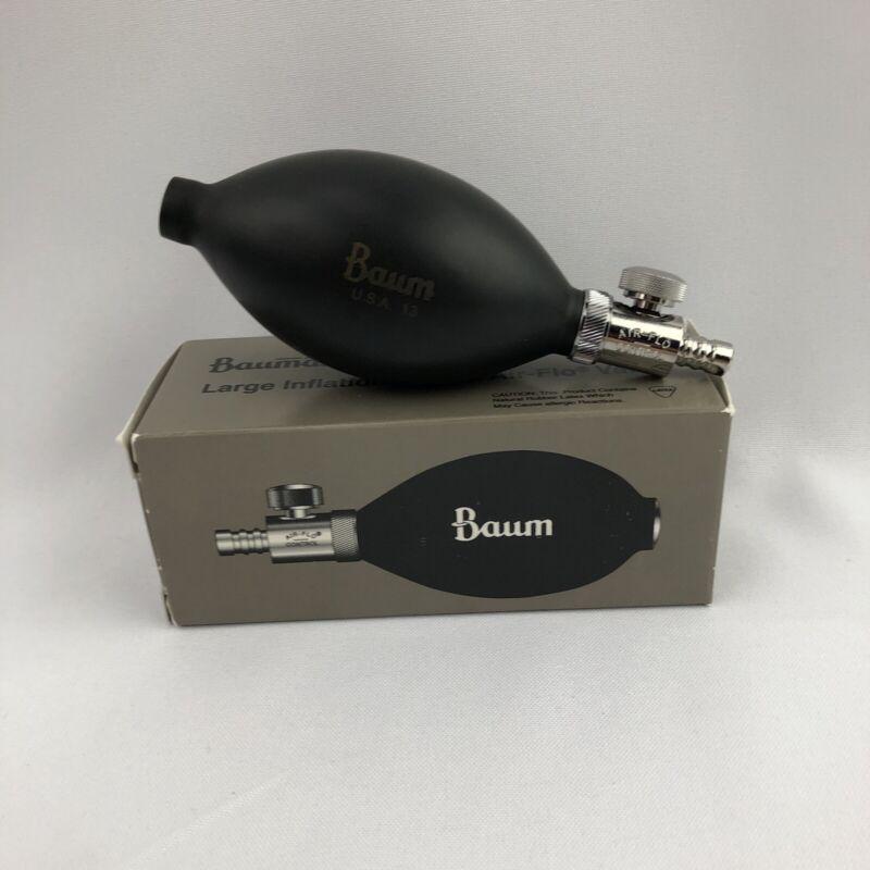 Air-Flo Control & Latex Inflation Bulb Baumanometer 1894  for Blood Pressure