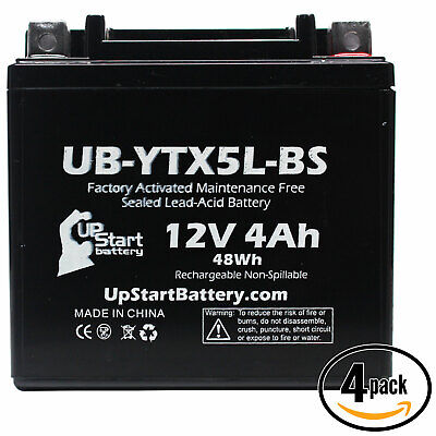 4x Battery for 2003 - 2014 Honda CRF230F, L (-'07) 230CC
