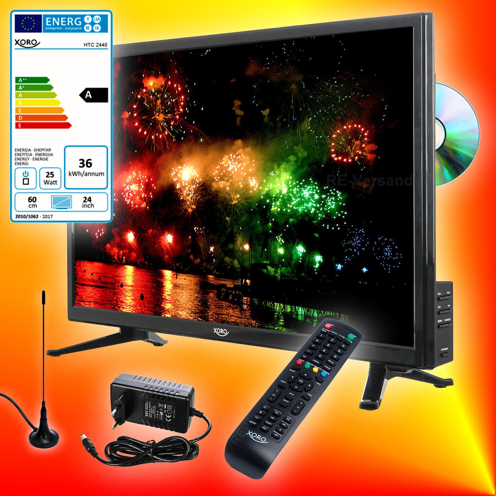 Xoro HTC 2448 60cm TV DVD-Player DVB-T2/S2/C Fernseher CI USB-Aufnahme EEK A