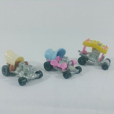 Lot of 3 Vintage Hot Wheels Zowees 1970's Beady Bye, Baby Buggy, Covered Draggin