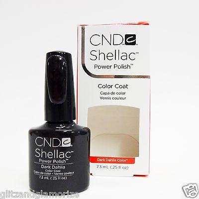Dark dahlia cnd на ногтях