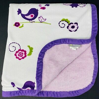 Blankets and Beyond Purple Owls Birds Paisley Lavender Sherpa Baby Blanket Lovey